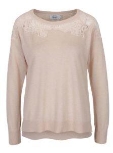 Marhuľový sveter s čipkovanými detailmi ONLY Maia