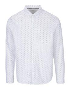 900e45eecf24 Krémová vzorovaná košeľa s náprsným vreckom Burton Menswear London