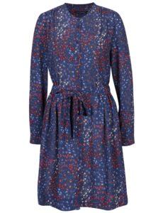 Modré košeľové šaty French Connection Frances