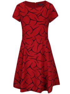 Červené vzorované šaty French Connection Rosalind