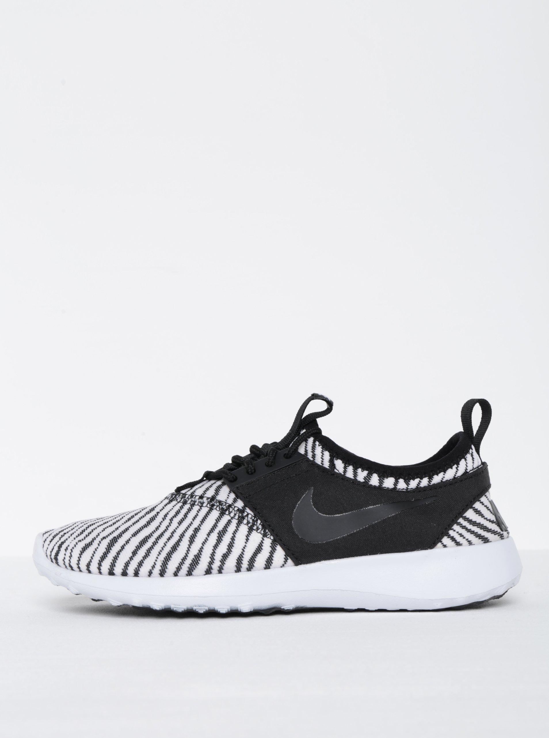 0bfc6d44acaa Čierno-biele dámske vzorované tenisky Nike Juvenate SE