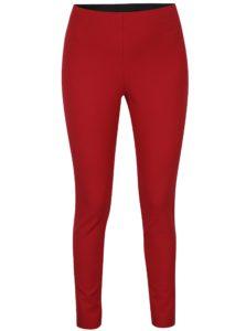Červené nohavice so zipsom v zlatej farbe French Connection Street