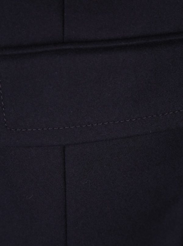 Tmavomodrý vlnený kabát French Connection Platform