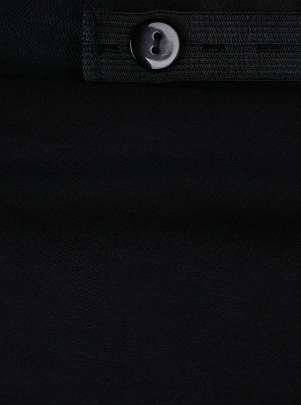 Čierne skrátené tehotenské bootcut rifle Dorothy Perkins Maternity