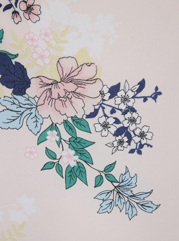 Svetloružová kvetovaná blúzka Dorothy Perkins Curve