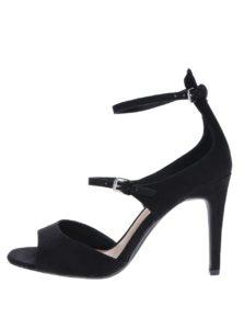 96c866f057467 Čierne sandálky v semišovej úprave na ihlovom podpätku Dorothy Perkins