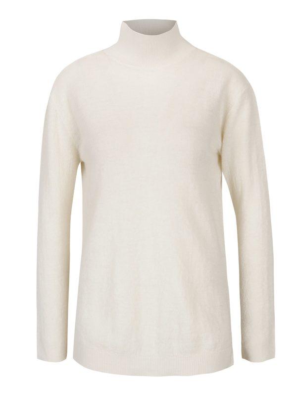 Krémový dámsky vlnený sveter s prestrihom na chrbte Garcia Jeans