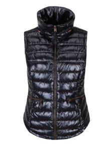 Tmavofialová dámska lesklá prešívaná vesta Garcia Jeans