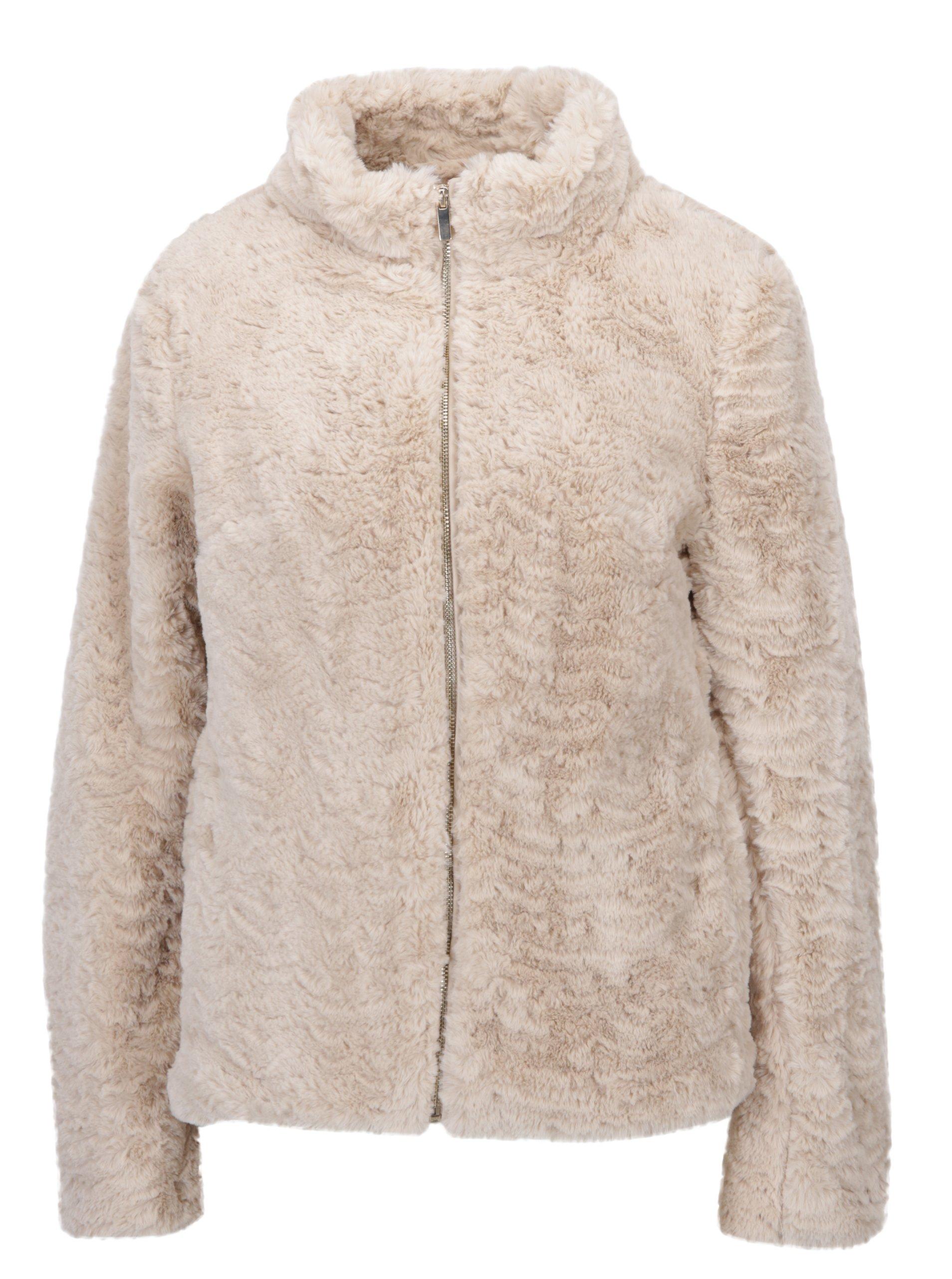 6f02f7e286cf Béžová bunda z umelej kožušiny Dorothy Perkins