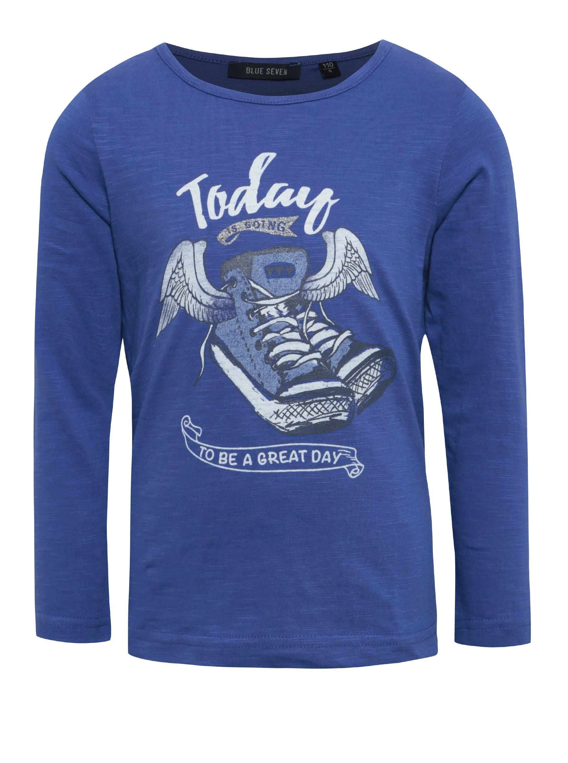 ba5a2391b6ba Tmavomodré detské tričko s potlačou Blue Seven
