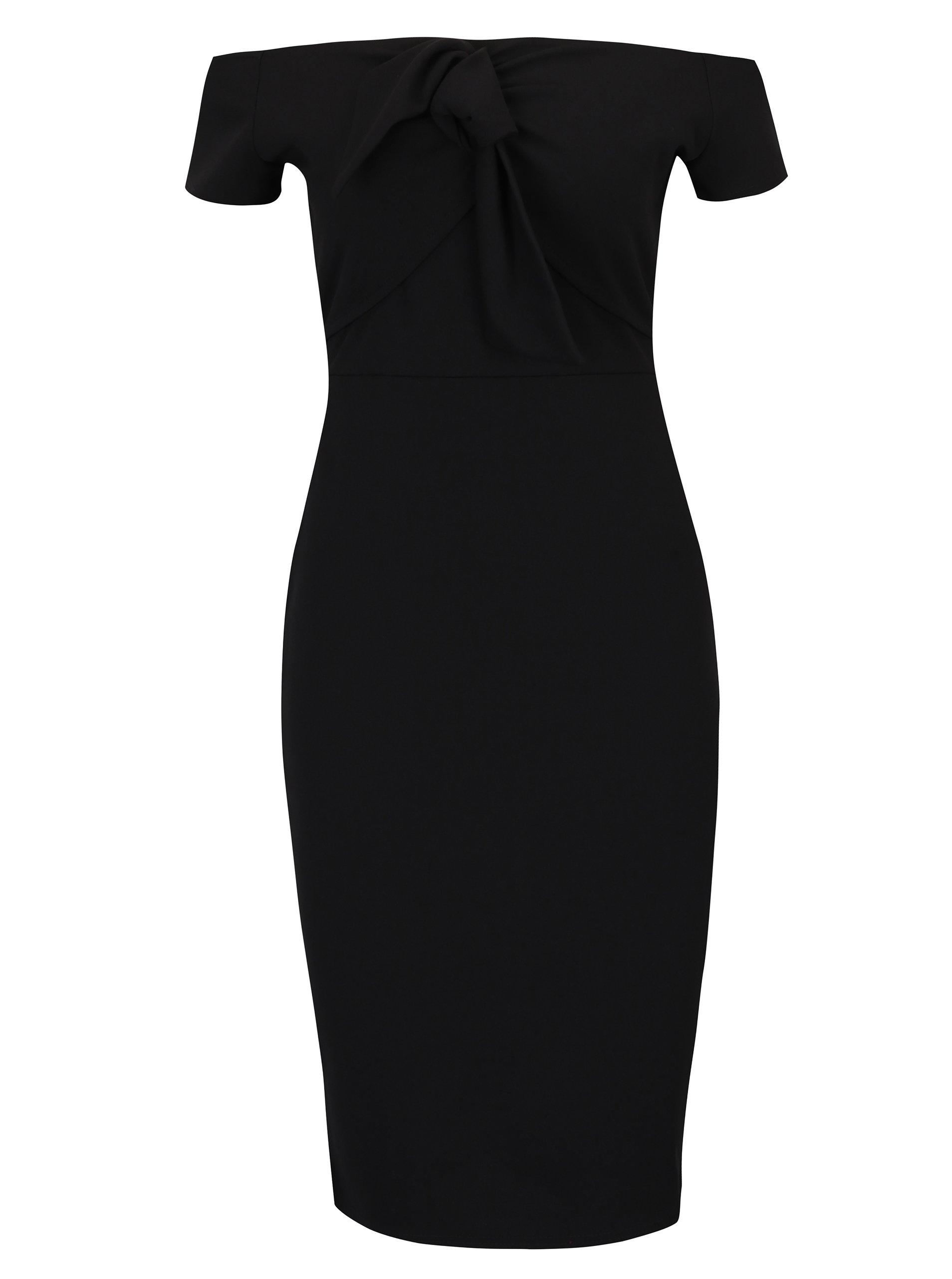 a613306d4cab Čierne puzdrové šaty s odhalenými ramenami Dorothy Perkins