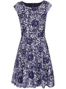 Bielo-modré kvetované šaty Mela London