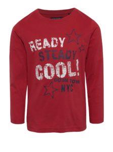 Červené chlapčenské tričko s potlačou Blue Seven