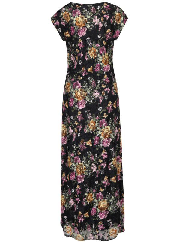 e8b272db350c Čierne kvetované maxi šaty Mela London