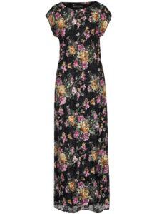 Čierne kvetované maxi šaty Mela London