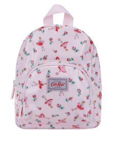 Svetloružový dievčenský vzorovaný batoh Cath Kidston