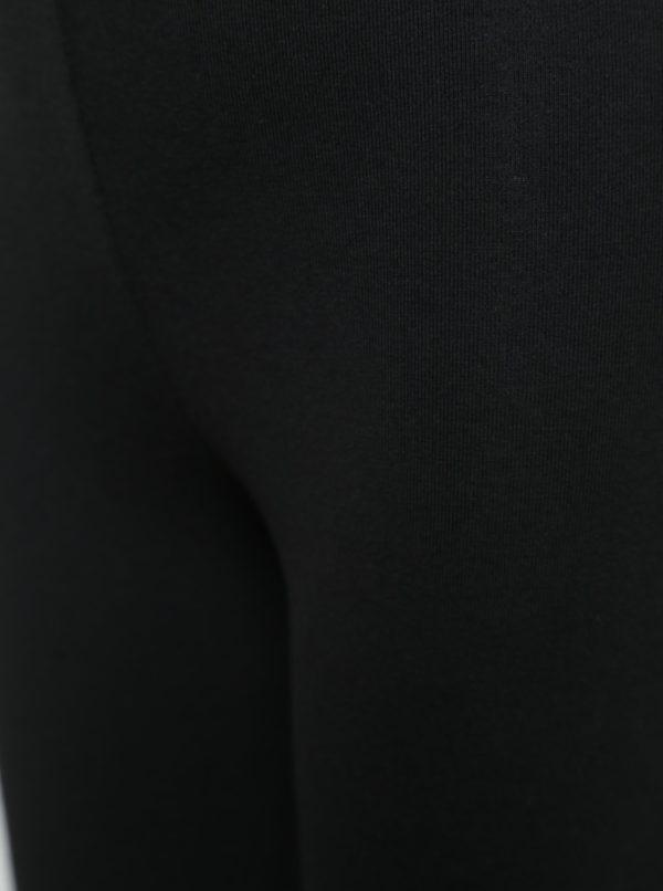Čierne dievčenské legíny s motívom vtákov BÓBOLI