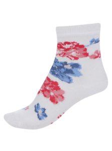Krémové dievčenské kvetované ponožky Cath Kidston
