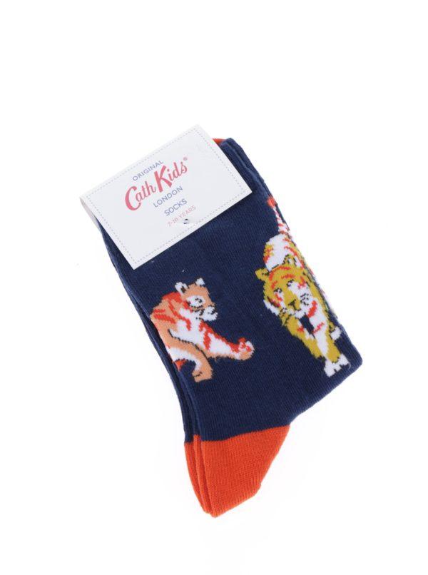 Tmavomodré chlapčenské vzorované ponožky Cath Kidston