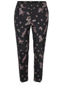 Čierne kvetované nohavice Ulla Popken