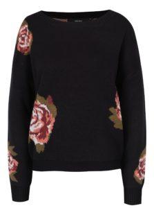 Čierny kvetovaný sveter VERO MODA Belmont