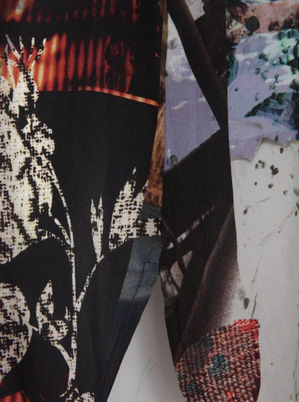 Čierno-krémová vzorovaná tunika s 3/4 rukávom Ulla popken