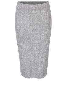 08513bb6bb9b Svetlosivá melírovaná puzdrová sukňa ONLY Ida