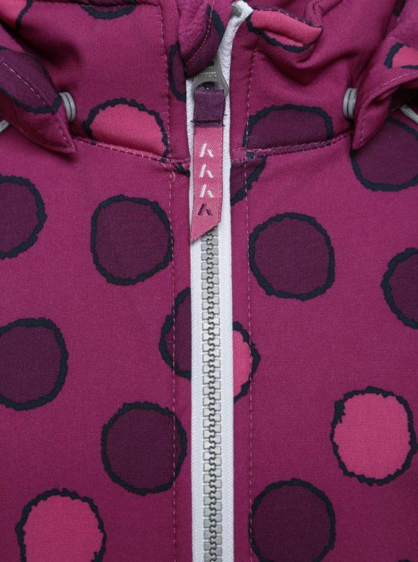 Fialová dievčenská softshellová bunda s bodkami name it Alfa