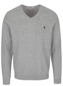 Sivý sveter s véčkovým výstrihom Original Penguin Chester