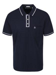 Tmavomodré slim fit polo tričko s náprsným vreckom Original Penguin The Earl