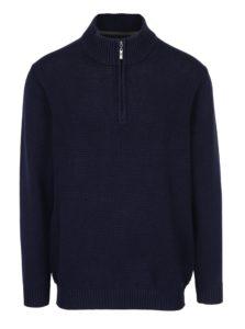 Tmavomodrý pánsky sveter so zipsom JP 1880