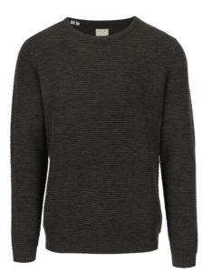 Tmavozelený melírovaný sveter Selected Homme New Vince