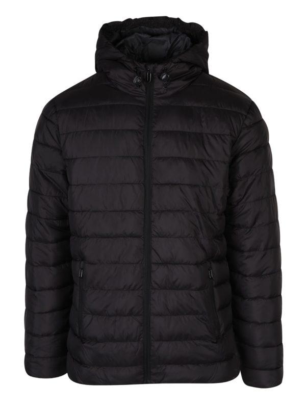 Čierna bunda s kapucňou ONLY & SONS Eddi