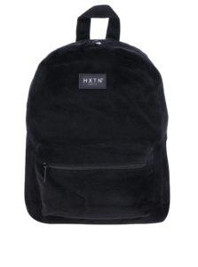 Čierny batoh z umelej kožušiny HXTN supply 12 l