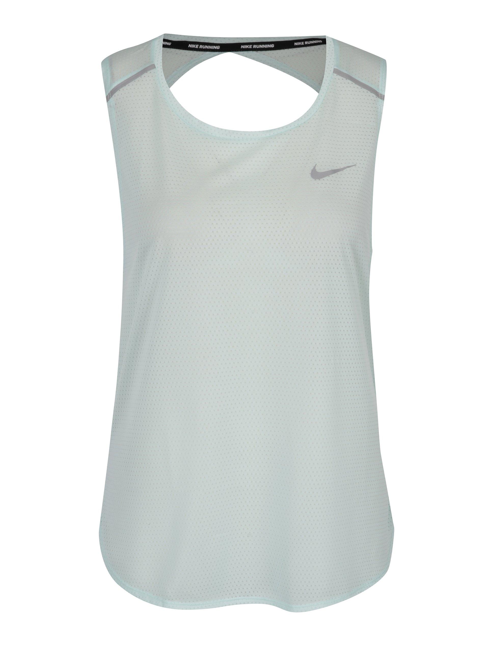 Mentolové dámske funkčné tielko s prestrihom na chrbte Nike Breathe ... 63e65155a11