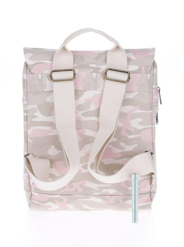 Béžový dámsky maskáčový batoh na notebook TOMS