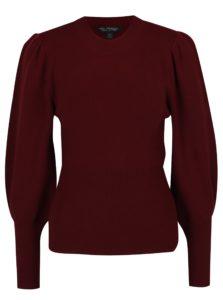 Vínový sveter s balónovými rukávmi Miss Selfridge