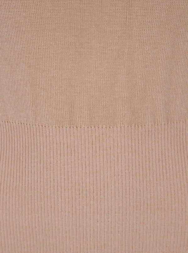 Béžový sveter s balónovými rukávmi Miss Selfridge