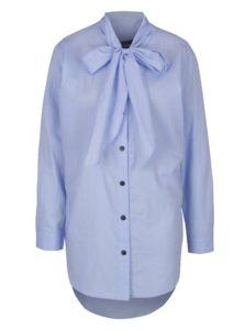 Modrá pruhovaná košeľa s viazankou Scotch & Soda