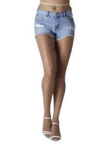 Béžové sieťované pančuchové nohavice Gipsy