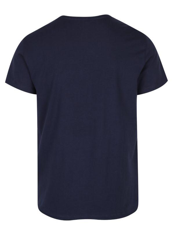 Tmavomodré tričko s potlačou Blend