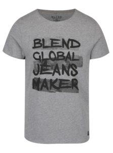 Svetlosivé tričko s potlačou Blend