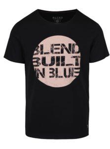 Čierne tričko s potlačou Blend
