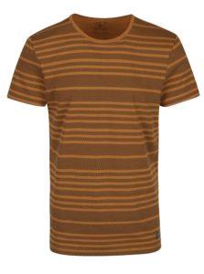 Hnedé pruhované tričko Blend