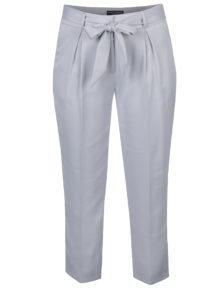 Lesklé skrátené nohavice v striebornej farbe Dorothy Perkins