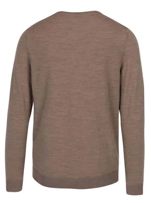 Béžový tenký sveter z merino vlny Selected Homme Tower