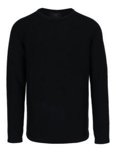 Čierny rebrovaný sveter Jack & Jones Wind