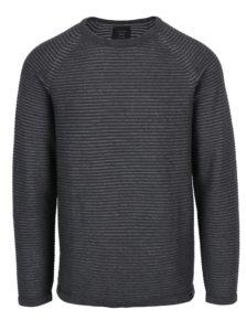 Tmavosivý rebrovaný sveter Jack & Jones Wind