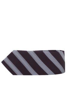Sivo-vínová pruhovaná kravata Selected Homme New