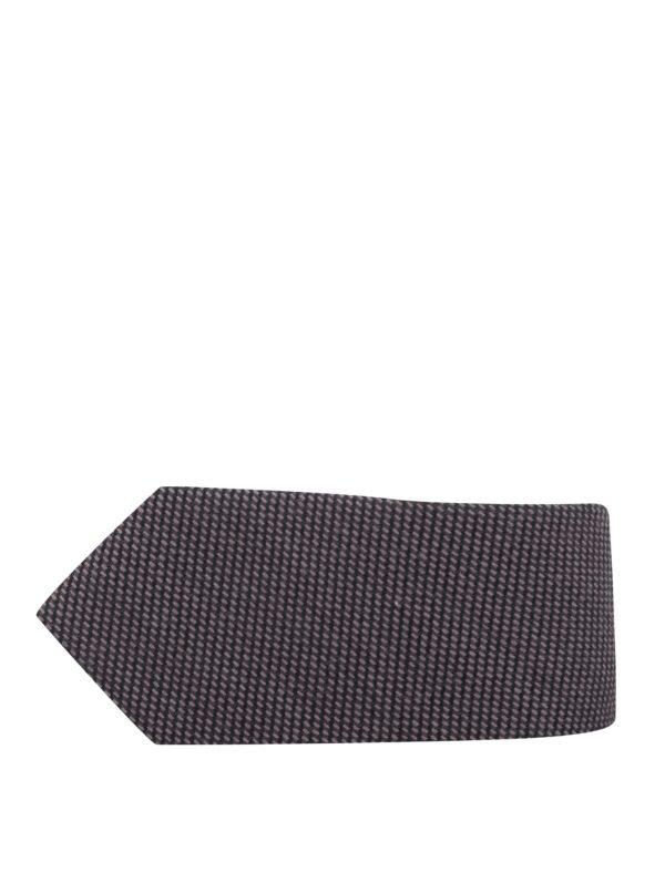 Hnedá vlnená kravata Selected Homme New